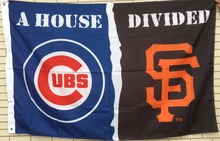 Chicago Cubs San Francisco Giants helmets House Divided Flag Football Flag 3ft x 5ft Polyester NFL Banner Flying Flag(China)
