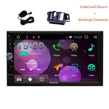 2Din Android 6.0 Car Stereo with Navigation Headunit multimedia dvd GPS Car Radio Receiver Support WiFi Mirrorlink+Backup Camera(China)
