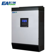 EASUNPOWER 110V Solar Hybrid Inverter 2Kva 1600W 24V48V Off Grid Inverter 120V MPPT Inverter 60A Pure Sine Wave Inverter Charger