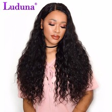 Luduna Human Hair Bundles Malaysian Water Wave Weave Bundles 1pcs/lot Non-remy Hair Extension Natural Color Can Buy 3 or 4 Piece(China)