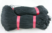 new fashion Cotton Wax Cord line Black rope cord string 1mm diameter about 430m/bundle Jewelry accessories and parts Choose vari