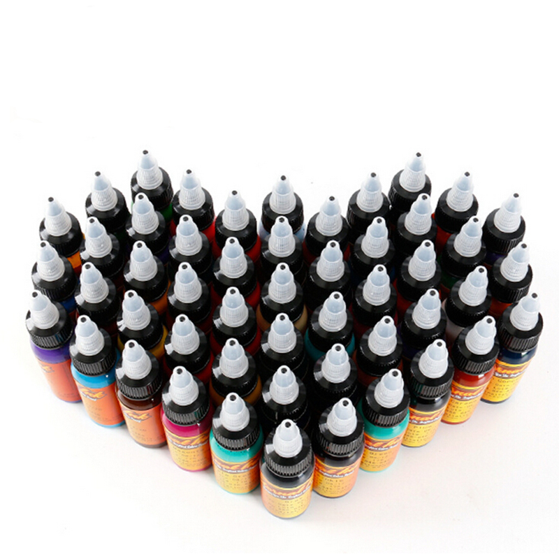 50pcs tattoo ink set Microblading permanent makeup art pigment 30ml tattoo paint for eyebrow eyeliner lip body total 50 colors 18