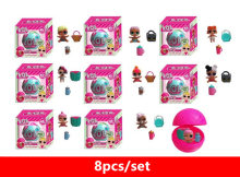8pcs/set LOL Surprise dolls Unpacking Dolls Dress Up Toys 3.5cm Dolls 7CM Ball Models Baby Funny Toys Girl Boy Gifts