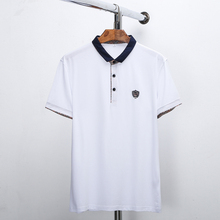 6XL  Hot Selling Solid Polo Shirt T-shirt Men and Women Unisex Short Sleeve T-shirt Lapel Nightwear T-shirt Advertising Clothing