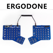 KBDfans Free shipping Ergodone mechanical keyboard PCB ergodox pbt keycaps(China)