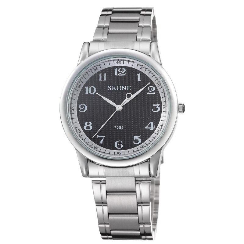 Skone Brand Unisex Full Stainless Steel Watch Men Women Quartz Clock Business Style Loves Wrist Watches relogio<br><br>Aliexpress