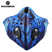 ROCKBROS Anti-pollution Bike Bicycle City Cycling Face Mask Cover Outdoor Sports Mouth-Muffle Dustproof Outdoor Accessories(China)