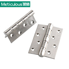 Meticulous Flat open door hinges Thickness 3mm 4 inch ball bearing hinge 101 mm 304 stainless steel furniture gate hinge brushed