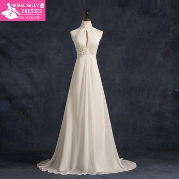 Real High Neck Robe De Mariee Vestido De Noiva Veach Wedding Dress Vintage Wedding Dress Shopping Sales Online Gowns MTOB1758