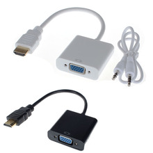 HDMI to VGA Cable Micro Mini HDMI Male Adapter to VGA Female 1080p HDMI Converter Connector For Xbox 360 PS3 PS4 PC DVD LCD TV