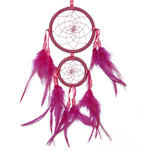 2016 1pcs Dream Catcher with Feathers Wall or Car Hanging Decoration Ornament Dreamcatcher Length 45cm Great gift for Friend(China)