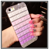 Bling Pink Blue Crystal Diamond Rhinestones capa para cover phone cases For apple iphone 4 4s 4g with Dust plug Free shipping