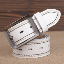 Stylish Belts For Men Cowboy Genuine Leather Pin Buckle Nature Leather Luxury Belts Ancy Vintage Jeans Cintos