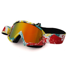 Red BuII Tinted Glasses Motocross Goggles Cycling Skiing ATV Mask Oculos Gafas Motocross Motorcycle Helmet MX Goggle Glasses