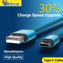Tiegem Original USB Type C Cable Nylon Line and Metal Plug Type-C USB for Xiaomi 4C / Leshi / Nokia N1 / HTC 10 Samsung note 7