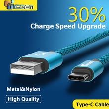 Tiegem Original USB Type C Cable Nylon Line and Metal Plug Type-C USB for Xiaomi 4C / Leshi / Nokia N1 / HTC 10 Samsung note 7