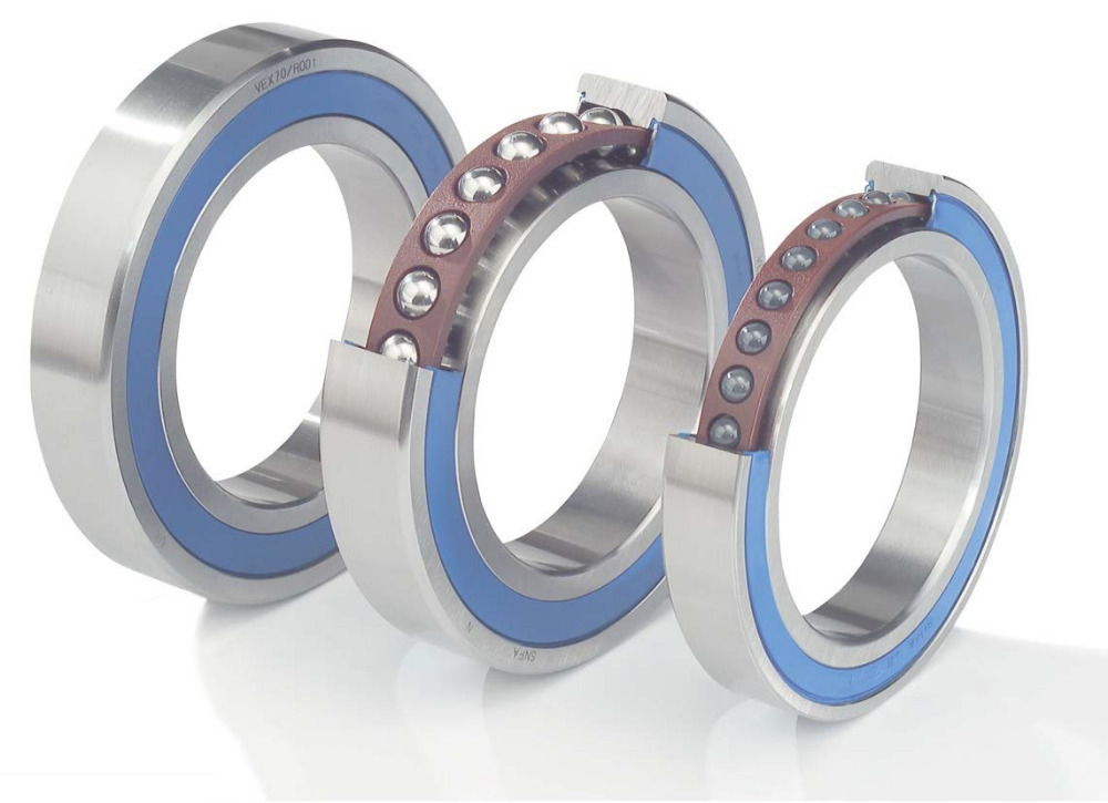 10mm Spindle Angular Contact Ball Bearings 7000C-2RS/P4 SUPER PRECISION BEARING ABEC-7 7000 Double sealed rubber seals<br>
