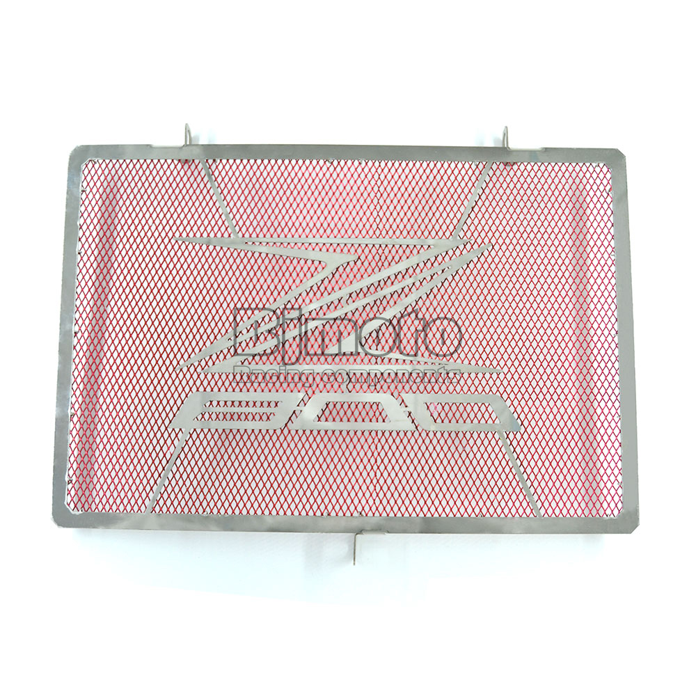 BJMOTO Motorcycle Parts Stainless Steel Engine Radiator Bezel Grill Guard Cover Protector Red For KAWASAKI  Z800 2013-2017<br>