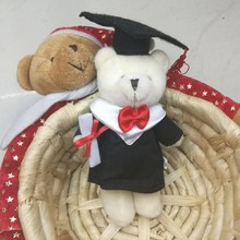 15cm x20pcs Stuffed Animals Graduation Bear Plush Toy With Hat and Book Formatura Doctor Panda Soft Dolls