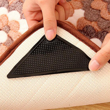 2016 Fashion 4Pcs Durable Rug Carpet Mat Grippers Non Slip Anti Skid Reusable Washable Silicone Grip