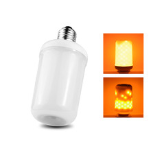 2 Modes Dynamic Flame Effect E27 LED Corn Bulb Night light 110V-240V Emulation Fire Flame Flicking Lantern holiday decor lamps(China)