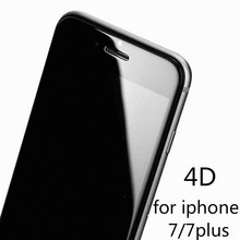 for iPhone 7 Plus protective glass full cover 4D tempered glass film for iPhone 6 6S 6 Plus edge full cover scree glass(China)