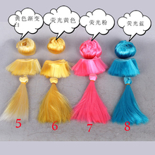 10pcs/lot Doll Bangs Wigs Different Colors Black Blond Brown / BJD SD Kurhn DIY Hair Welf /Light Carsees Wig Accessories 5*100CM(China)