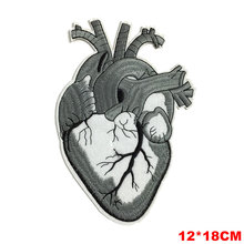 Motorcycle Jacket Patches Heart 3D Embroidered Biker Patches Iron on Stickers for Clothes Badge Portugal Jersey Parches Bordados(China)