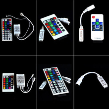 DC 12-24V RGB IR RF Wireless Remote Controller Dimmer + strip Control Box For RGB SMD 3528 5050 3014 LED Strip LED Lights