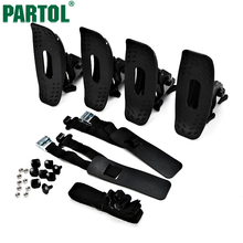 Partol 4pcs/set Black Steel Kayak Boat Rack Car Roof Accessories 175LBS Loading Work With Roof Racks Nylon Rubber Pads Included(China)