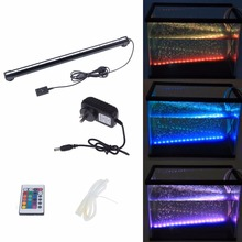 46CM 18 LED Colorful Air Bubble LED Aquarium Light Fish Tank Coral Lamp Tube IP68 Waterproof Underwater RGB Led Light