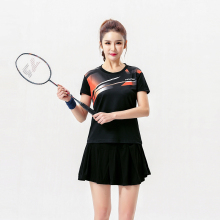 2017 Badminton clothes sets Women's , Female Tennis wear sets  ,Table Tennis sets , Tennis shirt + skorts Black set 5061B