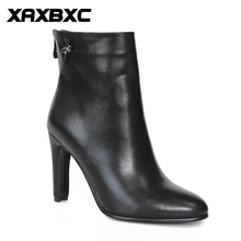 Buy XAXBXC Retro British Style Leather Brogues Oxfords Black Short Boot Women Shoes Metal Bird Pointed Toe Handmade Casual Lady Shoe for $44.10 in AliExpress store