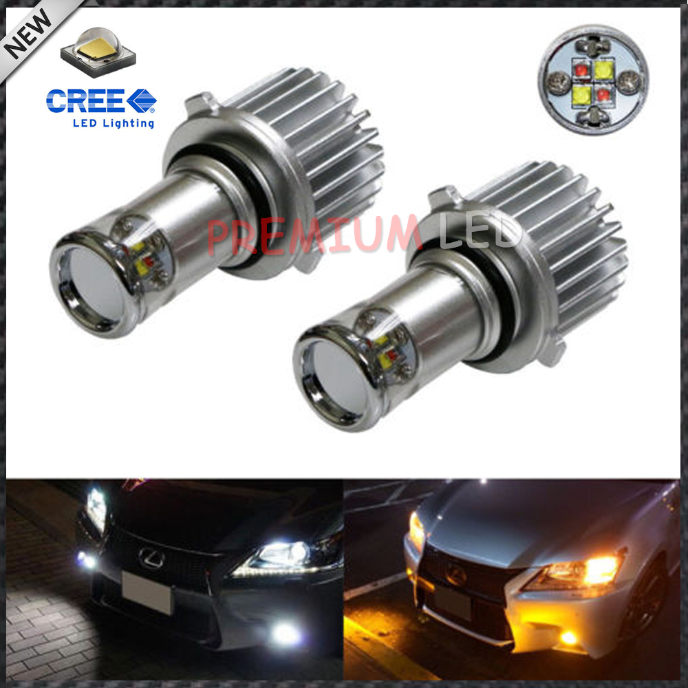 2pcs Color Switchable Xenon White/Amber Yellow 20W CREE High Power 9005 9006 LED Bulbs Conversion Kit For Fog Lights or DRL<br><br>Aliexpress