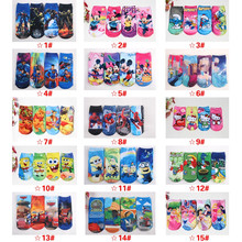 Cartoon Movie Socks SpiderMan Kids 3D Painting Cartoon Princess Despicable Me Big Hero 6 Superman Toy Story Party Children Socks
