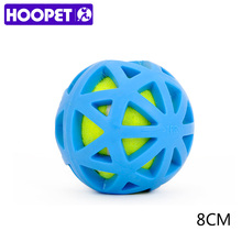 HOOPET Dogs Toys Tennis Ball Bite Resistant Teeth Cleaning Chew Pet Rubber TPR(China)