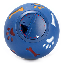 Hoopet Dog Food Ball Durable Safe Rubber Ball Adjustable Food Hole Molars Training Puzzle Pet Toy Dog Food Ball-Color Random(China)