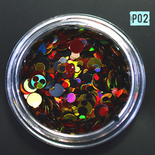 1g MIxed Shape Nail Art Glitter Decoration Paillette Mini Round DIY Sparkling Tips 1mm 2mm 3mm DIY Thin Tips Sequins P2
