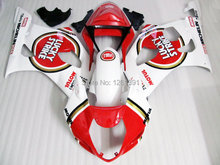 Injection For SUZUKI GSX-R1000 Red White K3 03 04 GSX R1000 K3 GSXR 1000 2003 2004 GSXR1000 Fairing Kit+7gifts