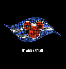 2pc/lot Cruise Logo iron on rhinestone transfer hot fix rhinestone motif designs applique patches for shirt bag
