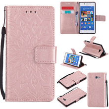 Buy Sony Xperia M2 Aqua D2403 Case Luxury Flower Embossing PU Leather wallet flip cover Sony M2 S50h D2302 D2306 Case Capa for $3.25 in AliExpress store