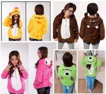 Cute Ducks monocular Aberdeen Hippo hello kitty hoodie suit face zip hooded Winter cartoon thick  cotton hooded