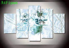 AtFipan 5 Pieces Dallas Cowboys 22 Footballer Emmitt Smith Modular Poster Sports Oil Painting On Canvas Pictures For Living Room(China)