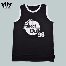 MM MASMIG Above The Rim Tupac Shakur Birdie 96 Tournament Shoot Out Basketball Jersey Black S to 3XL(China)