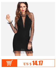4c5fd74f COLROVIE Iridescent Sequin Dress 2018 Round Neck Long Sleeve Sexy ...