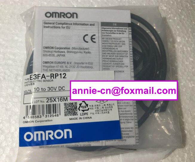 100% New and original  E3FA-RP12, E3FB-DN12  OMRON Photoelectric switch  2M   10-30VDC<br>