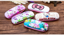 Hello kitty girl student cute compressive myopia frame retro glasses case fashion ladies cartoon glasses box(China)