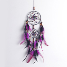 Vintage Enchanted Forest Polycyclic Dreamcatcher Handmade Dream Catcher Net With Feather Decoration Ornament BMW086