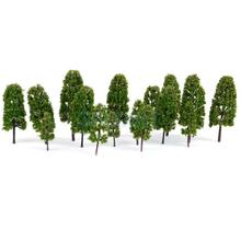 New Arrivals 2015  20 pcs HO Scale 4 Sizes Scale Model Pine Trees Model Railroad Green--HOT SALES