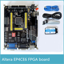 Free Shipping ALTERA Cyclone IV EP4CE6 FPGA Development Kit Altera EP4CE NIOSII FPGA Board and USB Blaster Downloader(China)